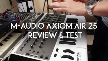 M-Audio Axiom Air 25 Midi Controller评估