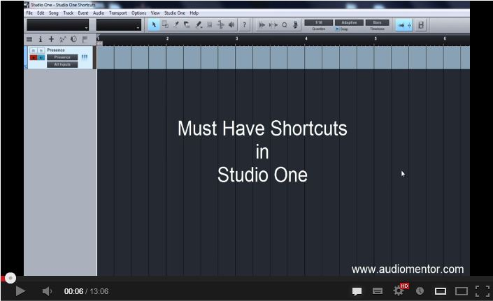 12 Must Know Studio One Shortcuts