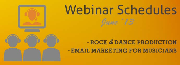 Webinar Schedule - Audio Mentor June 13