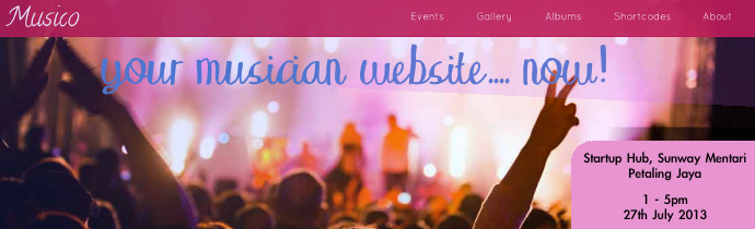 Your Musician Website..Now!
