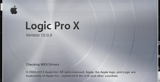 The famous brushed steel in Logic Pro X's launch screen