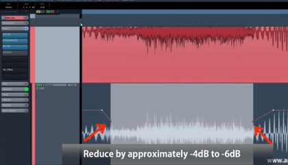 Reduce by about -4dB | De Essing How To