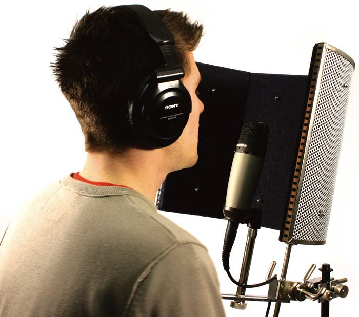 The reflexion shield work by isolating & absorbing room noise giving you a dry microphone recording