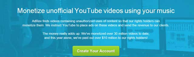 monetize-unoficial-videos