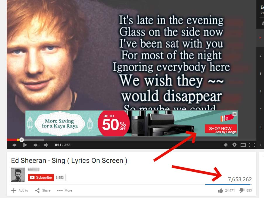 Don't think Ed is going to okay with people monetizing with his music!