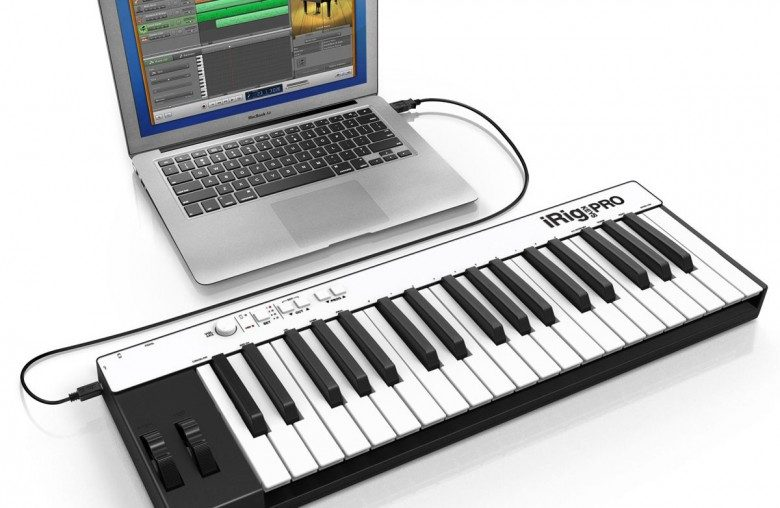 Connect MIDI controller via USB to your laptop/computer and you're good to go
