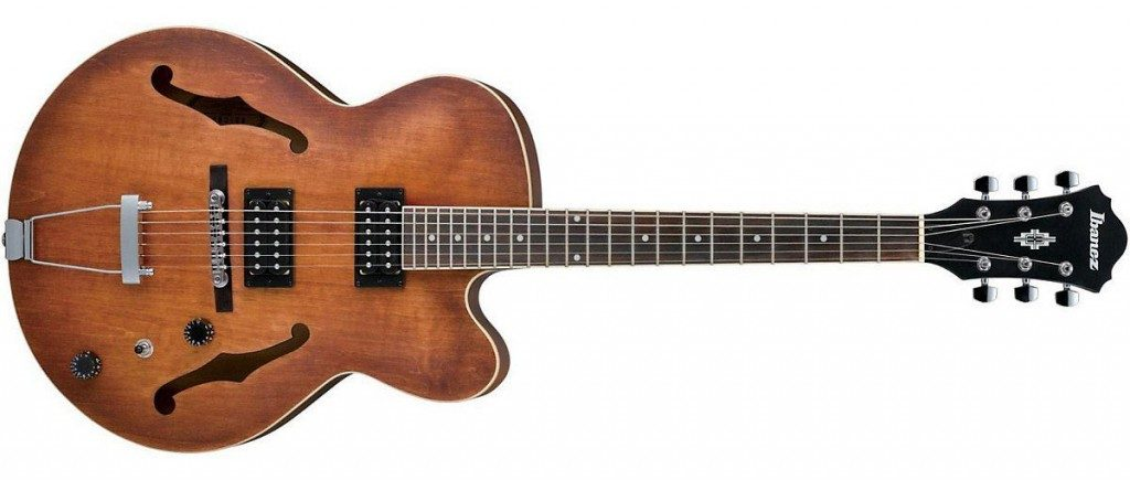 Somewhat rare to most, jazz guitarist would opt for hollow body guitars like the Ibanez AF55