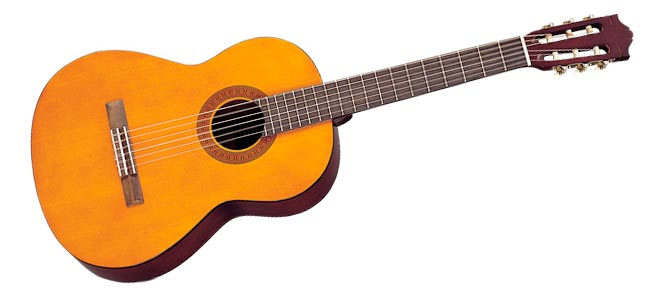 The all classic Yamaha C40 classical guitar. You see this in almost every music school!