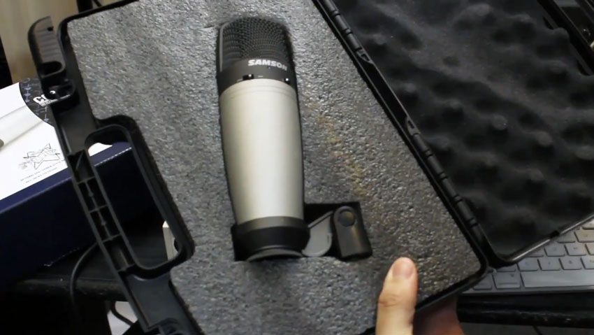 samson co3 condenser microphone case