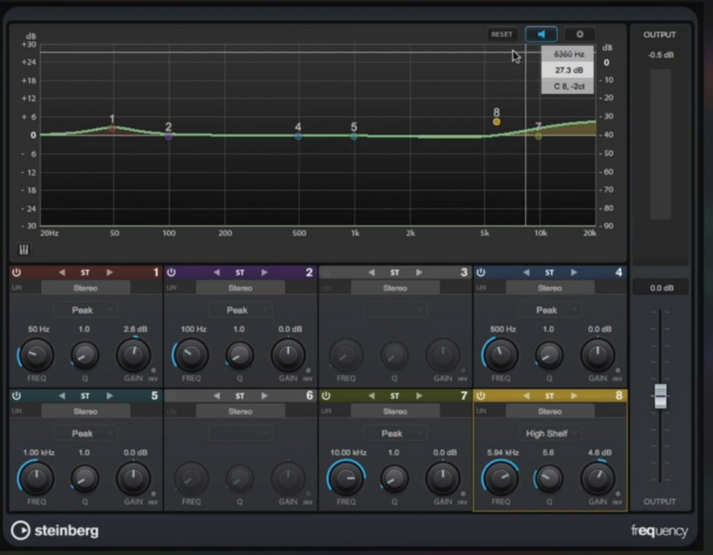 Frequency EQ Cubase 9