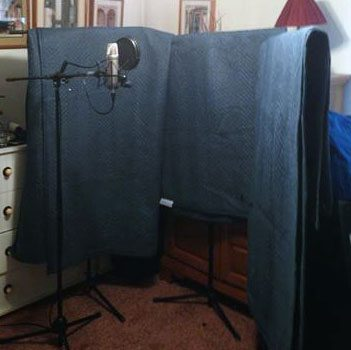 home made vocal isolation booth